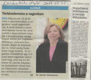 Dunántúli Napló cikk