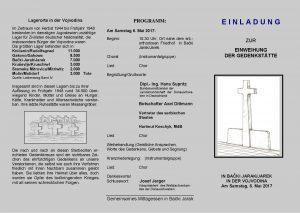E I N L A D U N G zur Einweihung der Gedenkstätte in Jarek-page-001