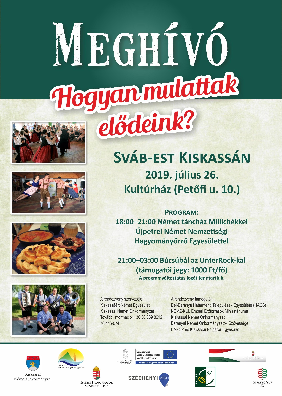Sváb est Kiskassán, plakát-min