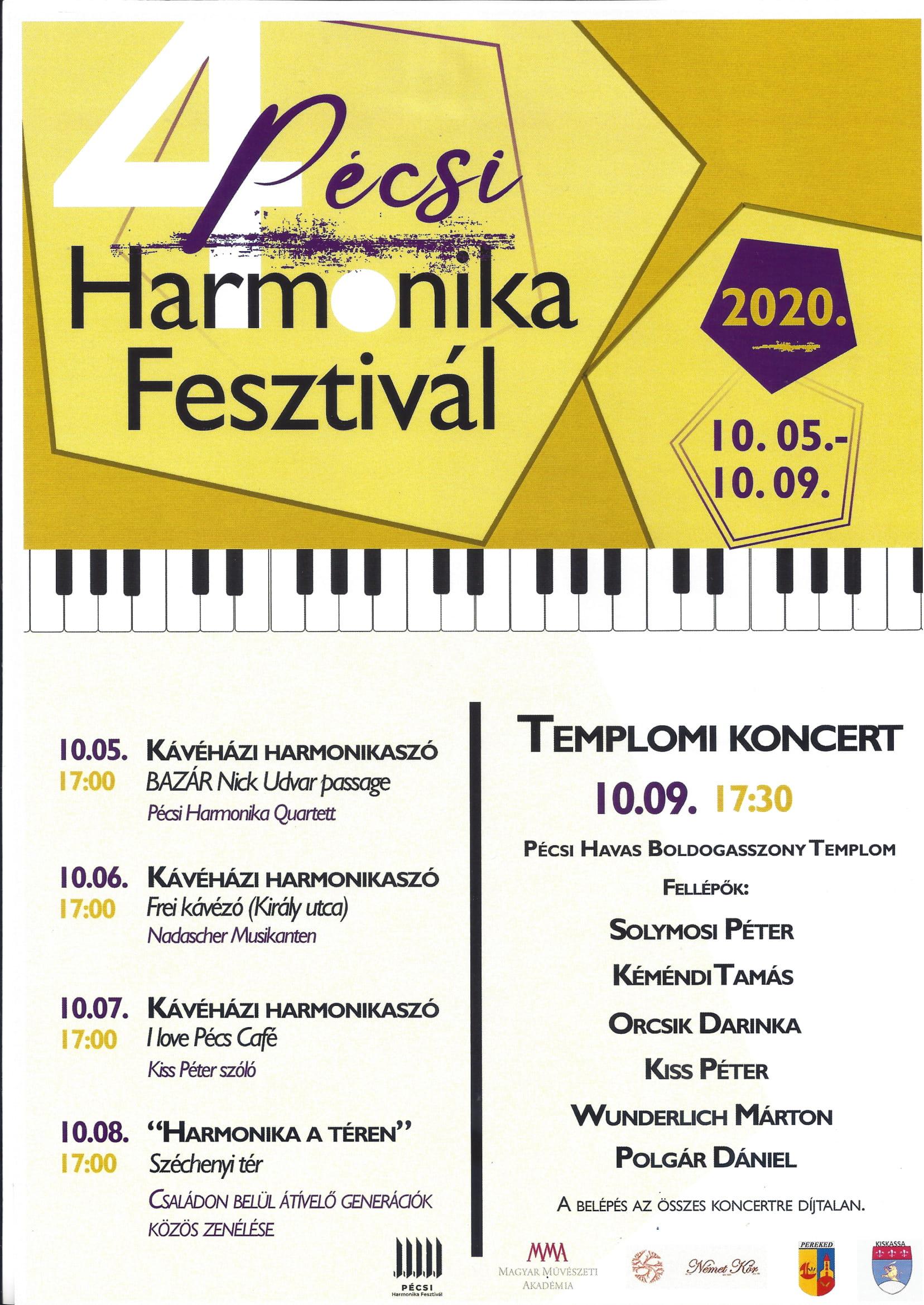 IV. Pécsi Harmonikafesztivál plakát-1